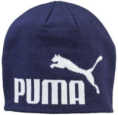 Puma Big Cat Adult Unisex Navy Beanie Hat ESS  One Size