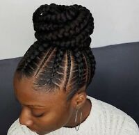 TRESSE AFRICAINE, TISSAGE lace front ,crochet ,Permanent makeup