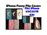 iPhone 5/5C/5S/SE/6/6S Fancy Magnetic Flip Wallet Book Covers Pouch Stand Case
