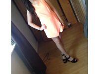New look orange playsuit