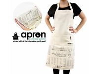 BRAND NEW KITCHEN COOKING APRON WITH COOKING GUIDE WEIGHTS & MEASURES CONVERSIONS - GREAT GIFT IDEA!