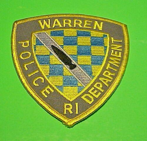"""WARREN RHODE ISLAND  RI  4 1/8""""  POLICE PATCH  FREE SHIPPING!!!"""