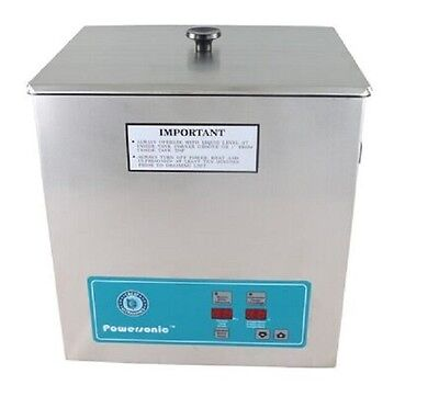 New Crest Powersonic P1100h 45khz Ultrasonic Cleaner Power Control With Basket