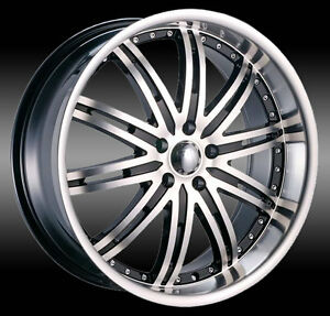 NEW! BLACK MACHINED 20 rim/tire audi a4 a5 a6 BMW 350z g35 370
