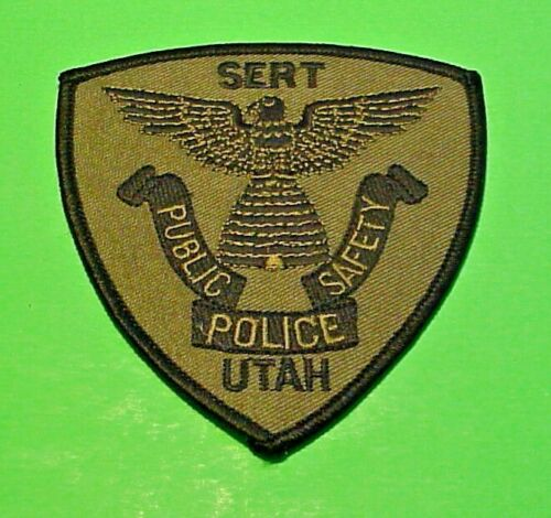 "UTAH SERT SUBDUED GREEN / BLACK   4"" POLICE PATCH  FREE SHIPPING!!!"