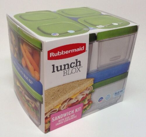 Rubbermaid Lunch Box Kit Storage Blox Set Sandwich Container