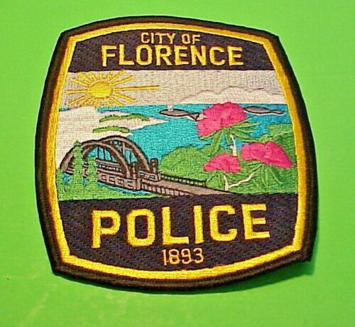 """FLORENCE  OREGON  1893  OR  4 3/4""""  POLICE PATCH  FREE SHIPPING!!!"""