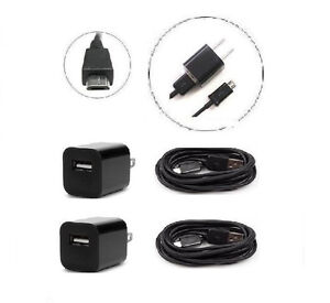 2x 1000mA Home Charger Adapter + 6ft Cable for Motorola Droid 2 3 4 RAZR M #L2