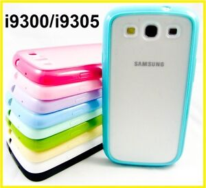 TPU Gel Rubber Bumper Frosty Back Case Samsung Galaxy S3 i9300 i9305 4G LTE