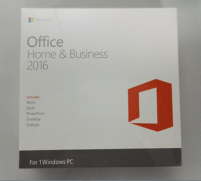 BRAND NEW Microsoft Office 2016 Home And Business Product(Key Card+DVD)