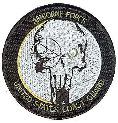 VELCRO Airborne Force W5168V USCG Coast Guard patch skull in gunsight