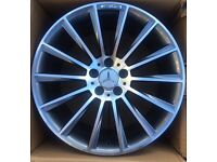 "BRAND NEW 18"" MERCEDES AMG TURBINE ALLOY WHEELS- A CLASS C CLASS CLK- BOXED FULL SET"