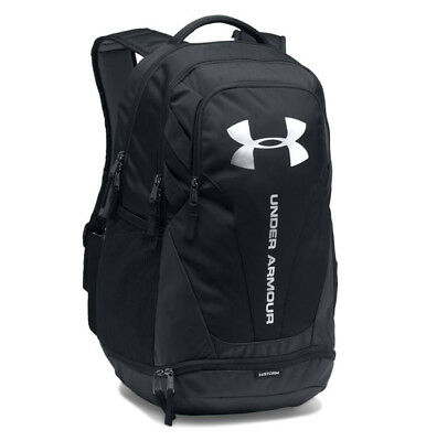 Under Armour UA Hustle 3.0 Storm Black Silver Backpack Book Bag 7a0d75db32bf1