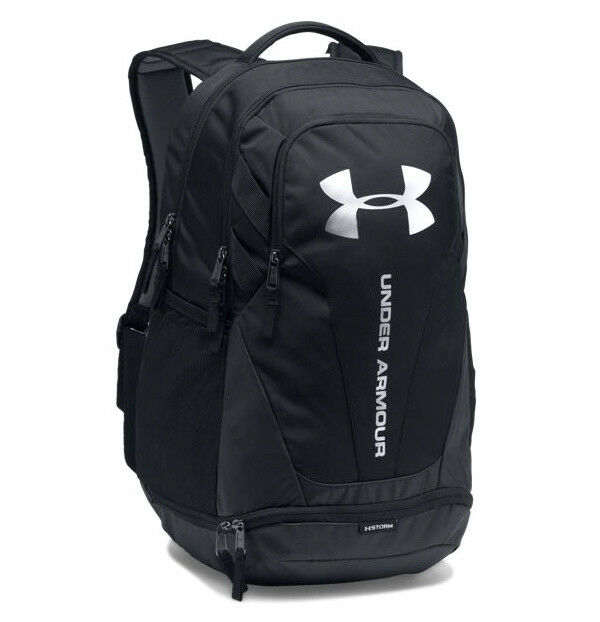 Under Armour UA Hustle 3.0 Storm Black Silver Backpack Book