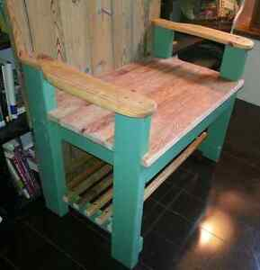 Coat Rack and Hall Bench - with a Repurposed Antique Door Peterborough Peterborough Area image 3