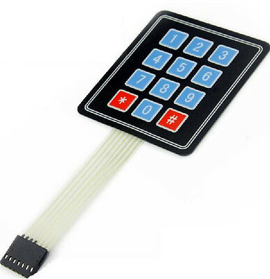 2pcs New 3 X 4 12 Key Matrix Membrane Switch Keypad Keyboard