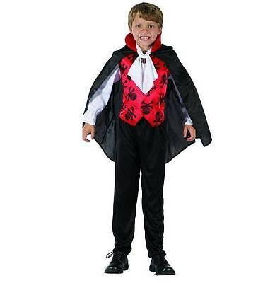 Schickes Graf Vampir Kostüm Kinder Halloween - Vampirkostüm für Kinder 098630