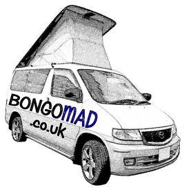 """Bongo Mad"" Mazda bongo & Ford Freda 7 seaters mpv and campervans"