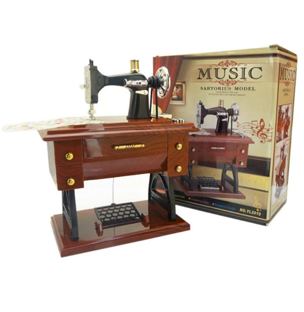 NEWSewing Machine Vintage Singer Case Accessories Cabinet Amazing Singer Sewing Machine Music Box