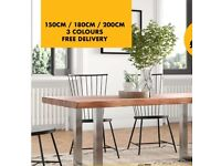 INDUSTRIAL DINING TABLE / DESK / KITCHEN TABLE / MEETING TABLE