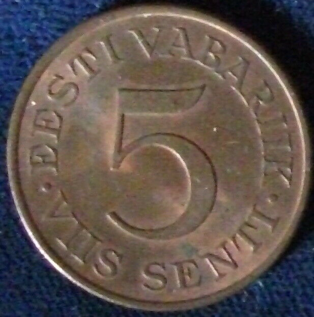 1931 Estonia 5 Senti AU+