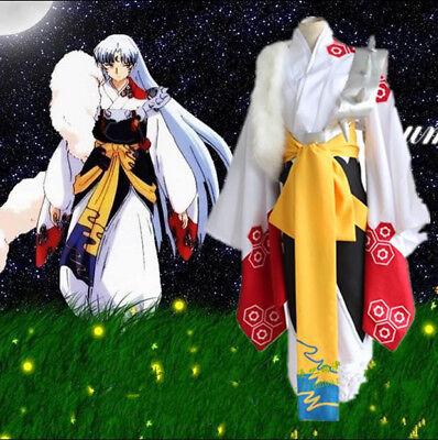 Anime Sesshoumaru Herren Cosplay Inuyasha Kimono karneval Kostüme Gr.S-XL