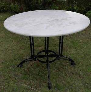 WHITE MARBLE Top Table 100cm wide DELIVERED* Newcastle & NSW Woollahra Eastern Suburbs Preview