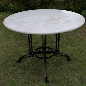 WHITE MARBLE Top Table 100cm wide DELIVERED* Melbourne & Vic Woollahra Eastern Suburbs Preview