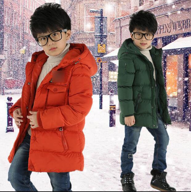 Kids Child Padded Down Coat Boys Warm Snowsuit Hooded Lightw