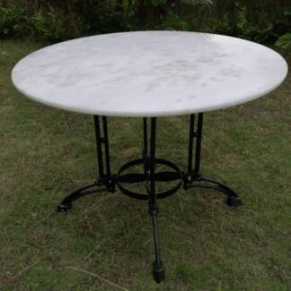 WHITE MARBLE Top Table 100cm wide DELIVERED* Adelaide & Surrounds