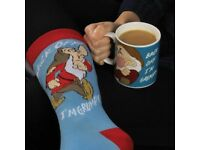 Mr grumpy socks and mug set