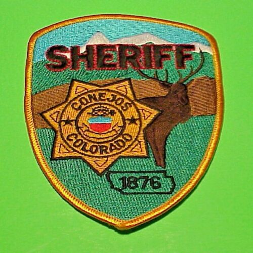 """CONEJOS  COLORADO  1876  CO  5""""  SHERIFF / POLICE PATCH  FREE SHIPPING!!!"""