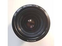 Minolta MD Zoom 35-70mm f/3.5 lens (3rd gen, macro) - moderate fungus