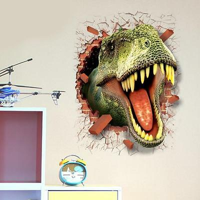 Wall Tattoo 3D Cartoon Dinosaur Removable Sticker For Main Uninstall Kor