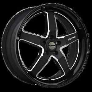 PDW HYBRID-RS 20X8.5 5X114.3 +40 BLACK MACHINED FACE --FULL SET-- Ashwood Monash Area Preview