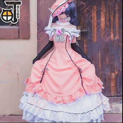 Black Butler Ciel rosa Cosplay Kostüm costume dress Abendkleid Gothic lang