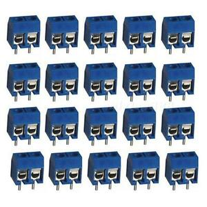 20pcs-2Pin-Plug-in-Screw-Terminal-Block-Connector-5-08mm-Pitch-Through-Hole-OT8G