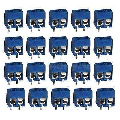10pcs 16a 2pin Plug-in Screw Terminal Block Connector 5.08mm Pitch Through Hole