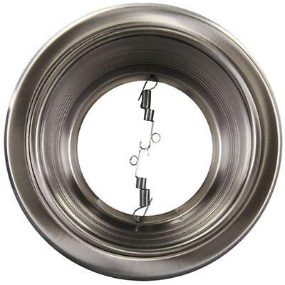 6 Pack 6 Inch Recessed Can Light Step Trim Baffle Silver Satin Nickel R30 Par30