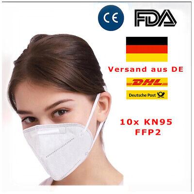 10x KN95 FFP2 Gesichtsschutz Atemschutzmaske Mundschutz Maske EN149 Zertifiziert