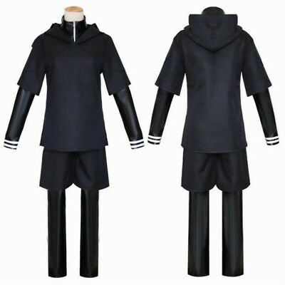 Anime Cosplay Costumes For Men (Men Anime Tokyo Ghoul Cosplay Costumes Kaneki Ken Hoodie Jackets 4pcs Suits)