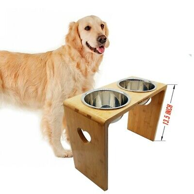 MMM YUMMY Raised dog bowls - Elevated Pet Feeder for Medium and Big Dogs