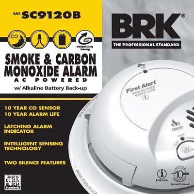 First Alert Brk Sc9120b Smoke And Carbon Monoxide With Battery Backup New In Box