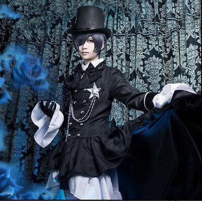 Anime Black Butler Ciel Phantomhive Cosplay Kostüme Herren Damen Aristokrat