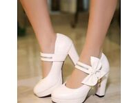 Womens white wedding shoes BN size 4