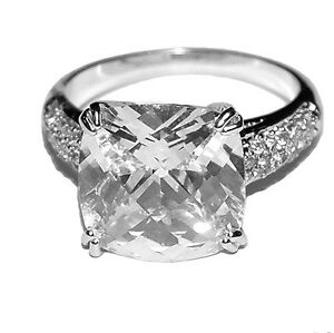 cubic zirconia wedding rings that look real the look of real cushion cut pave side clear cubic 3221
