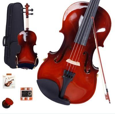 New 1/8 Maple Wood Acoustic Violin + Case + Bow + Rosin + Strings +Shoulder Rest