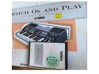 Vintage book Switch On And Play By Yamaha with Cassette