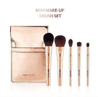 [PONY EFFECT] MINI MAKEUP Brush Set (5PCS) Makeup Tools  Shading Brush - Korea