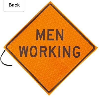 Jackson Safety 20984 Marathon Orange 48 Reflective Roll-up Sign Men Working